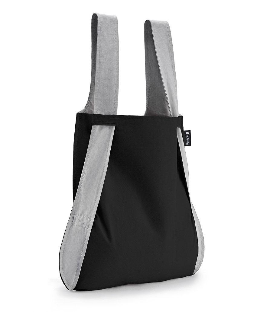 Notabag Τσάντα χειρός   Σακίδιο πλάτης - Μαύρο Γκρι - Sapontina ... 523e78612d0