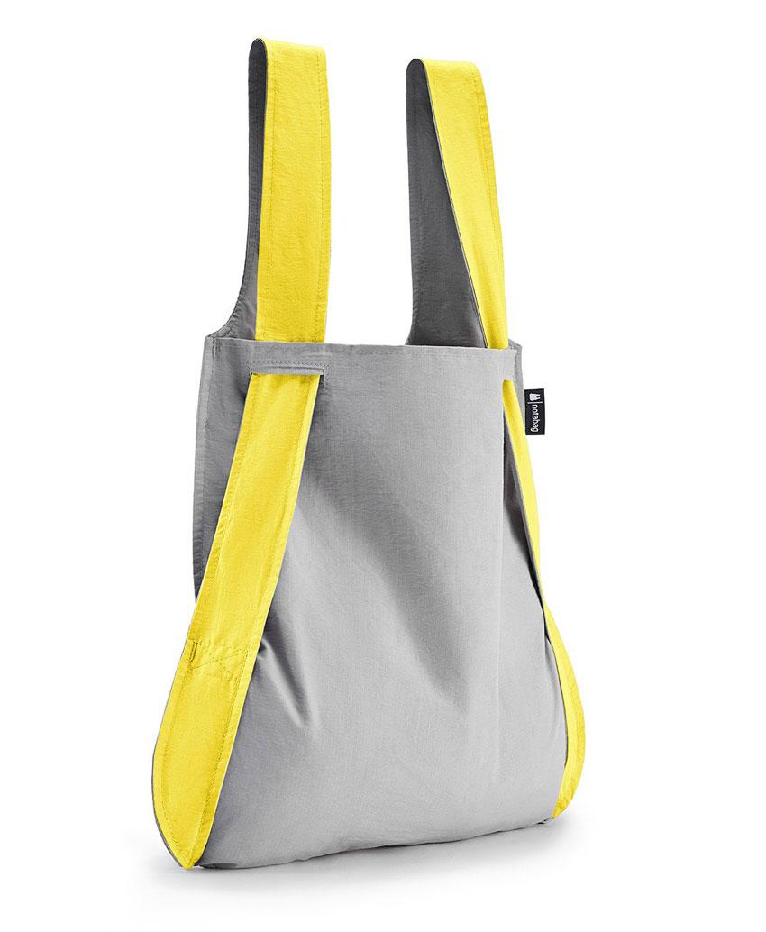 Notabag Τσάντα χειρός   Σακίδιο πλάτης - Γκρι Κίτρινο - Sapontina ... b6afafca184