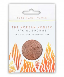 Σφουγγάρι Προσώπου Konjac Sponge The Elements FIRE - Volcanic Scoria