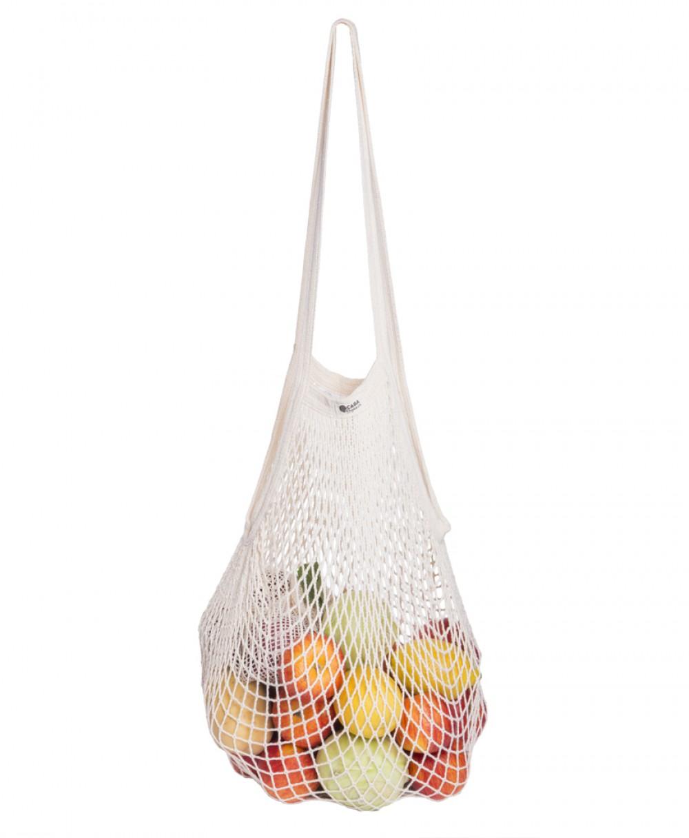 eb822bffe0 Τσάντα Δίχτυ από βιολογικό βαμβάκι κοντή μακριά λαβή - Natural ...